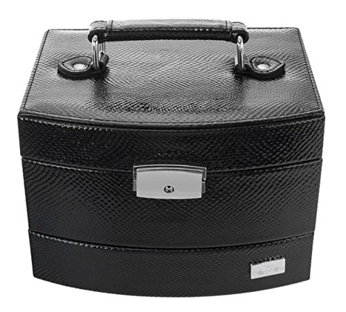 Céline Cellier Travel Jewelry- and Cosmetic-Box CC60028PC Beauty Case da viaggio, 19 cm, Nero (Schwarz)