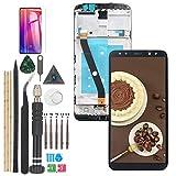 YWL-OU para Huawei Mate 10 Lite LCD Display y Maimang 6 Nova 2i Pantalla digitalizador de Pantalla táctil con Herramientas (Negro con Marco)