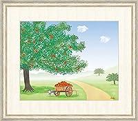 【F8】大きな木の風景絵(大)額 りんごの木 鈴木みこと アート インテリア 安らぎ 潤い 壁掛け G4-CM0018
