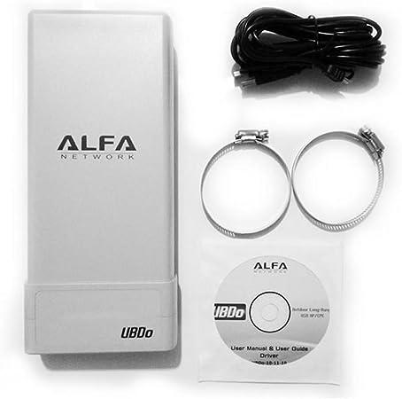 Alfa Network UBDO-GT8 - Adaptador WiFi USB 802.11b / g, Largo Alcance, Radio, con 12 dBi Antena integrada, Cable de 8 m