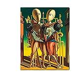 Giorgio de Chirico Hector and Andromaca Canvas Painting Posters and Prints Arte de la pared Cuadro retro decorativo Decoración del hogar-60x80 cm x1 Sin marco