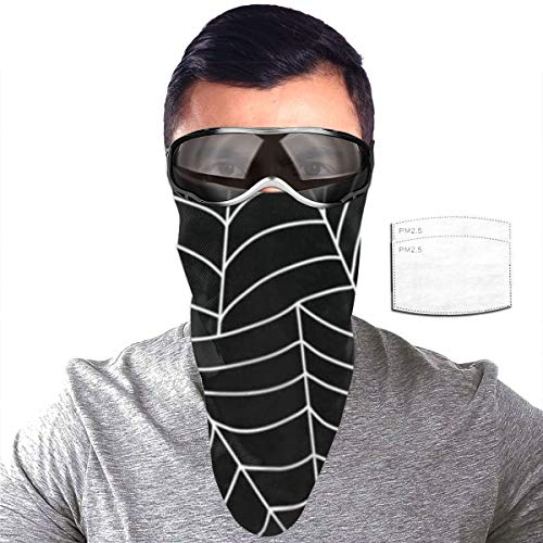Half Bavaclava Face Mask Triangle Wind Dust Proof Masks With Filter Magic Tape Strap Full Ears Protection For Women Men Ski Motorcycle Cycling Bicycle -Halloween Minimalist White Stripe Spiders Web D