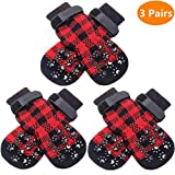 SCENEREAL Dog Socks Anti Slip with Straps Traction Control 5...
