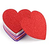 Sntieecr 32 Pieces 6 Inch / 15 cm Heart Foam Stickers Large Foam Heart Shaped Stickers Adhesive EVA Stickers for Valentine's Day DIY Cards, Scrapbook Home Decorations, 4 Colors