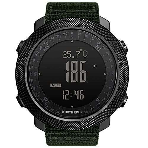 Reloj Inteligente Hombre Deportes Senderismo Velocímetro Altímetro Reloj Inteligente 2021 Brújula Barómetro Rastreador de Ejercicios Digital Listo para Vestir(C)