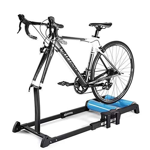 LOISK Bike Trainer Faltbarer Rollentrainer Rennrad Heimtrainer Fahrradtrainingsstation Ausdauertraining mit rutschfestem Pedaltrainer Support Faltbare Fahrradrollen