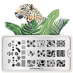 The stainless steel plate measures 6.5 x 12.5cm and have a vinyl backing for increased ease of use. Each plate comes in its own branded protective sleeve. The designs are engraved on to the image plate and covered with a protective film which needs t...