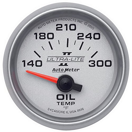Price comparison product image Auto Meter 4948 Ultra-Lite II Electric Oil Temperature Gauge