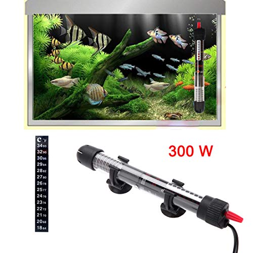 300W Submersible Aquarium Heater Adjustable Turtle Tank Fish Tank Water Heater with Temperature Auto Control