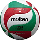 Molten Top V5M5000-DE - Pallone da competizione, 1 pezzo, Bianco/Verde/Rosso
