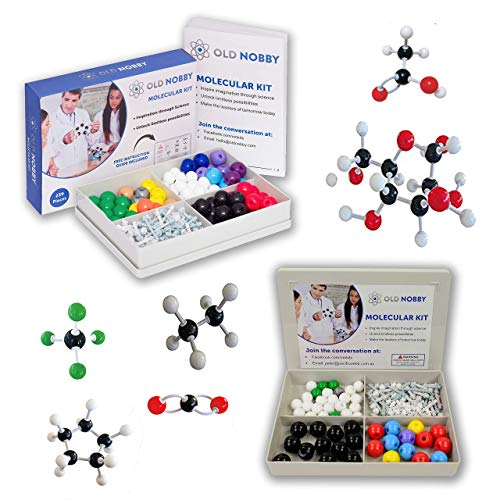 Organic Chemistry Model Kit (239 Piece Kit and 115 Piece Kit) - Molecular Model Student or Teacher Pack with Atoms, Bonds and Instructional Guide