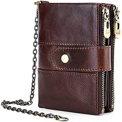 RFID Blocking Credit Card Holder Happy Thanksgiving Leather Zipper Card Case