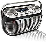 Radio Vintage FM – Poste Radio Transistor Portable avec Reveil,...