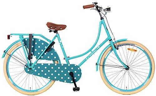 POPAL Omafiets OM26 - Bicicleta Holandesa para Mujer (26'), Color Azul