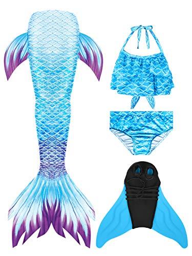 SPEEDEVE Cola de Sirena con Bikini para Niñas para Fiesta de Natación Cosplay