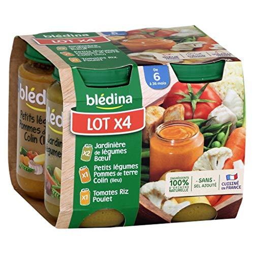 Blédina Bébé Bla © Dina Verschiedene Töpfe Sala © S (von 6 auf 36 Monate) mit dem 4 200G Von Pots (Set von 4 oder 16 Töpfe)