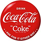 Retro Planet Drink Coca-Cola Red Disc Ask for It Vinyl Sticker 1930s Style