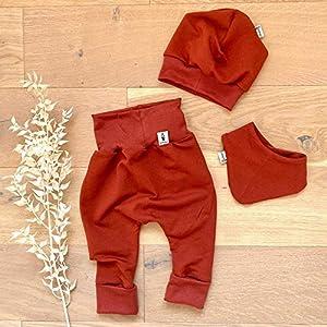 ANGEBOT Set – Hose, Mütze, Halstuch – Herbst French Terry Terra (Terra) Baby Junge Mädchen Babykleidung