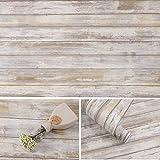 Arthome 43,5 × 305 cm Pegatinas Autoadhesivas para Muebles de Grano de Madera marrón, Papel Tapiz Impermeable de PVC, el Bricolaje es Adecuado para Muebles y Paredes.