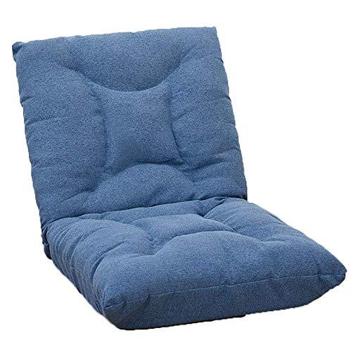 LXH-SH Faules Sofa Chaise de Méditation de Jeu vidéo Chaise de Plancher épaississante de Art Japonais PLIANTE Chaise de en Coton Tatami Faule Sofa (Couleur: Bleu, Taille: 68 * 114 * 15cm) Slow-Sofa.