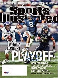 LaMichael James Autographed Sports Illustrated Magazine Cover Oregon Ducks #Z83328 - PSA/DNA Certified