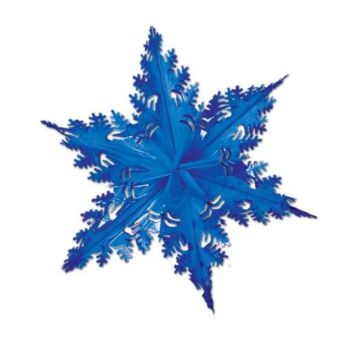 Beistle - No2750/Bleu - Flocon de neige métallisé bleu 61 cm