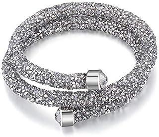Elegant SWAROVSKI Elements Double-Wrap Bracelets Made with Crystals from Swarovski