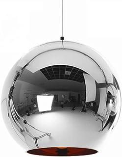 Modern Simple LED Pendant Lighting Creative Glass Bar Lamp Adjustable Mirror Nordic Ball Shade Ceiling Lamp Chandelier for...