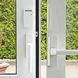 easymaxx 02481Security - Sistema de Alarma para Puertas y Ventanas, tecnología de Sensor magnético, 110dB, no Requiere taladrar, inalámbrico, Incluye Mando a Distancia, Color Blanco