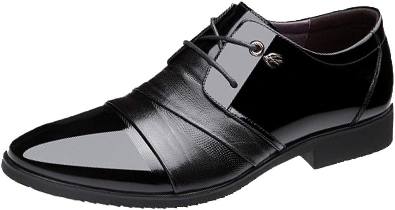 LIXIYU Herren Lederschuhe Spitzen Schnürschuhe Oxford Schuhe Büro formelle formelle Schuhe atmungsaktiv Business Casual Schuhe schwarz braun Abendschuhe  Online-Verkauf