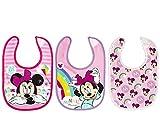 Disney Minniesimply - Juego de 3 baberos de algodón