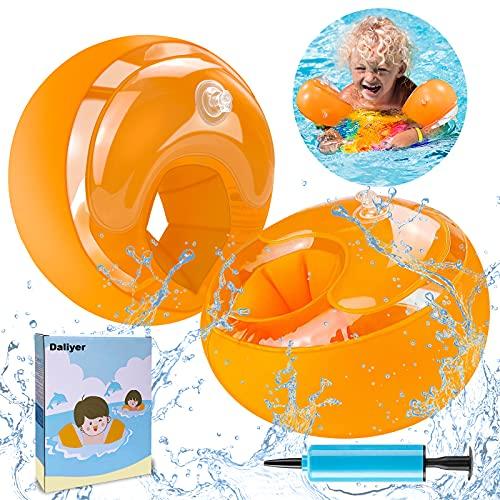 Daliyer Schwimmflügel Kinder, Schwimmhilfe und Swimsafe Gerät für Anfänger, Schwimmring für 1-4 Jahre Jungen Mädchen Babys, Empfohlenes Gewicht 6-20kg, Schwimmreifen Armumfang 21-23cm ( Orange )