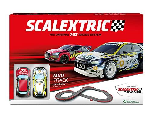 Scalextric - Circuito Original System - Pista de Carreras Completa - 2 Coches y 2 mandos 1:32 (Mud Track)