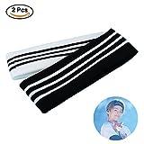 Coaste Antilane 2 Stück BTS Stirnband | Kpop Bangtan Jungen Haarband Damen Herren Baumwolle Elastische Sport Stirnbänder Haarspange | Beste Geschenk für The Army