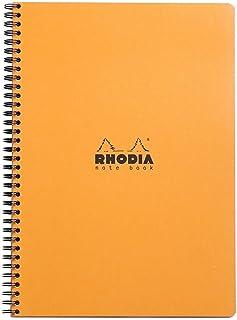 RHODIA(ロディア) クラシック ダブルリングノート A4+ 方眼 オレンジ × 5 セット cf193008