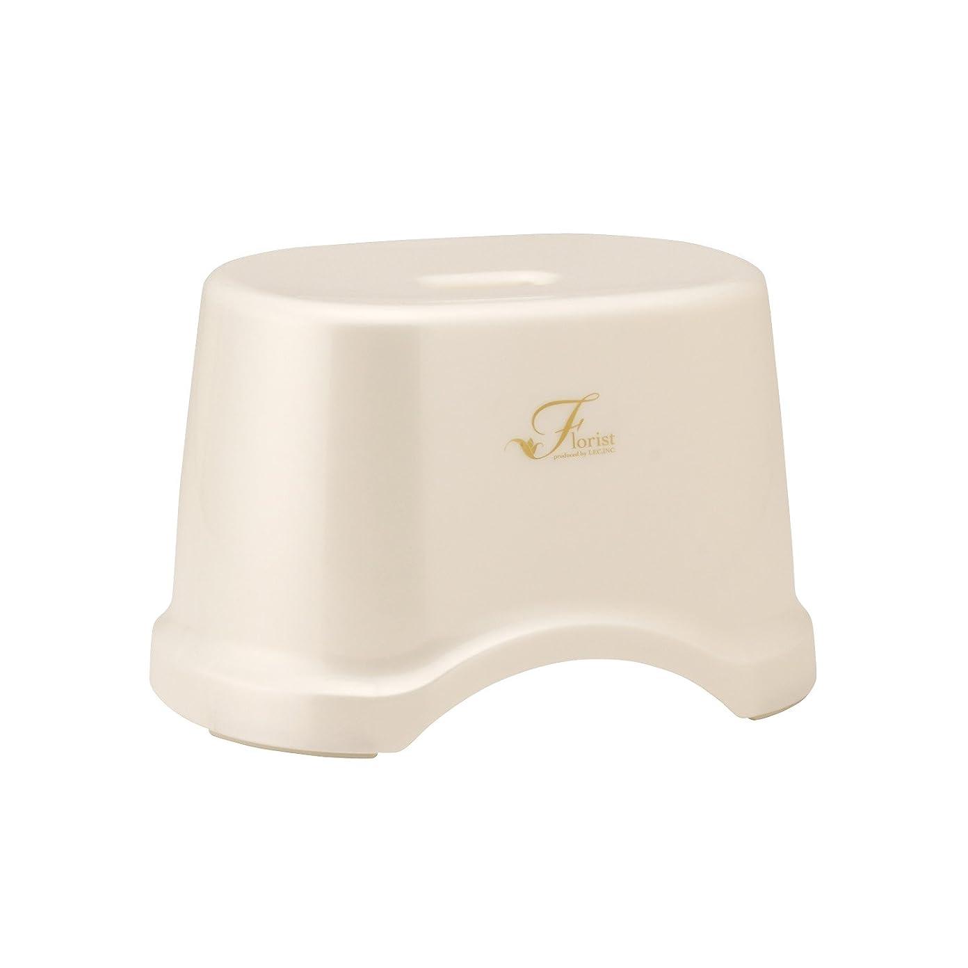 司法通行料金独創的レック Florist 風呂いす 高さ19cm ホワイト (風呂椅子 バスチェア) B-960
