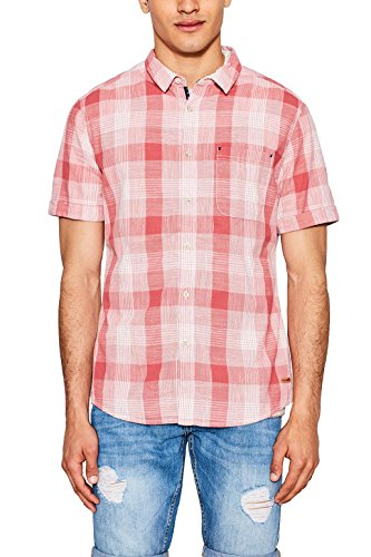 Edc by Esprit 057cc2f010 Chemise Casual, Rouge (Red), Medium Homme