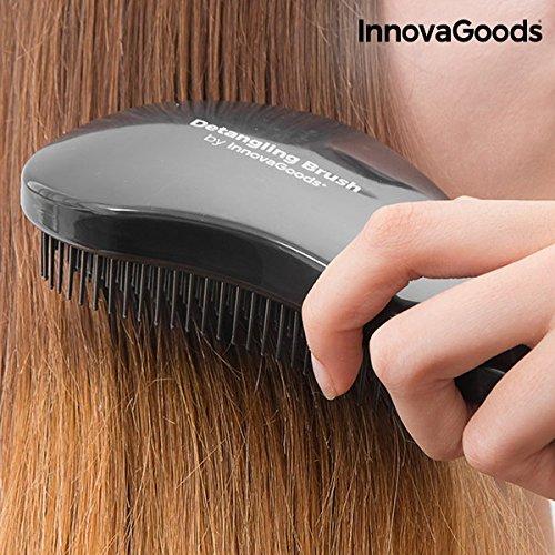 InnovaGoods IG811556 - Cepillo de pelo desenredante anti-tirones