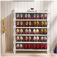 靴収納6層靴ラック大型靴ラックオーガナイザー木製靴収納棚オーガナイザーForentrywayリビングルーム廊下シューズラック(カラー:ホワイト) (Color : White)