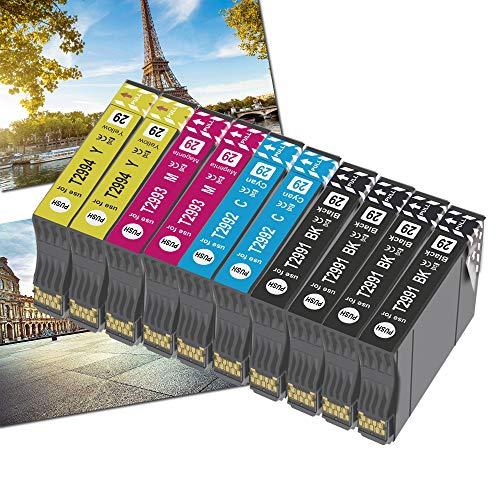 Karl Aiken 29XL Cartuchos de Tinta para 29 XL Compatible con Expression Home XP-235 XP-245 XP-247 XP-255 XP-332 XP-335 XP-345 XP-352 XP-355 XP-432 XP-442 XP-445 XP -452 (4Negro 2Rojo 2Amarillo 2Azul)