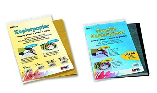 Kreul Pauspapier Set hell und dunkel, Kopierpapier für dunkle und helle Untergründe