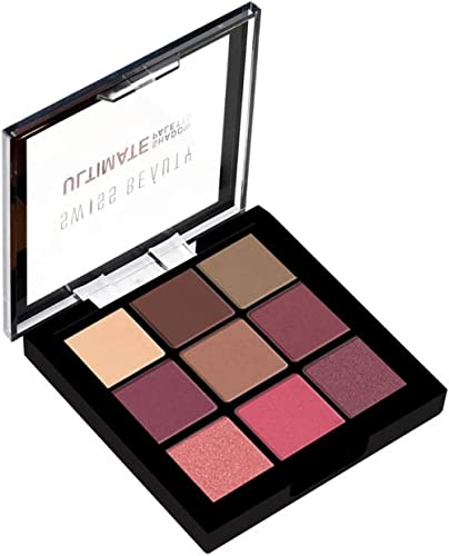Swiss Beauty Ultimate 9 Color Eyeshadow Palette, Eye MakeUp, Multicolor-01, 9g