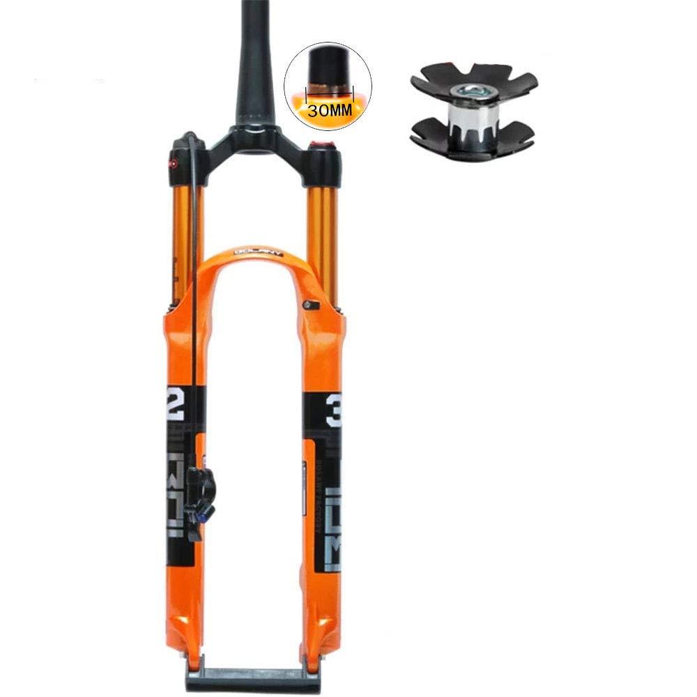 CHUDAN Horquilla de Bicicleta MTB Aleación de magnesio Suspensión neumática 26 27.5 29 Pulgadas Amortiguadores neumáticos Tubo de Cono del Puente Delantero para Accesorios de Bicicleta,29in: Amazon.es: Deportes y aire libre