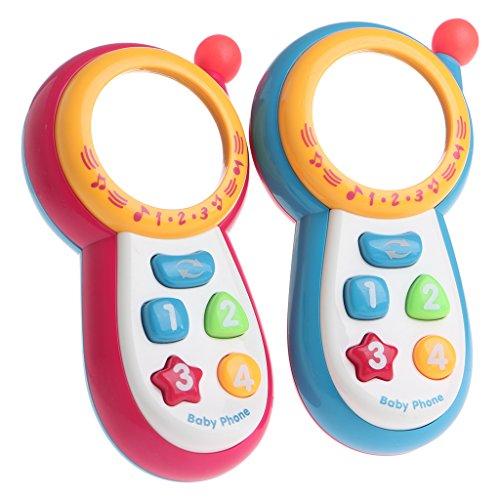 Lamdoo Bebé Niños Aprendizaje Estudio Musical Sonido Teléfono Celular Educativo Teléfono móvil de Juguete