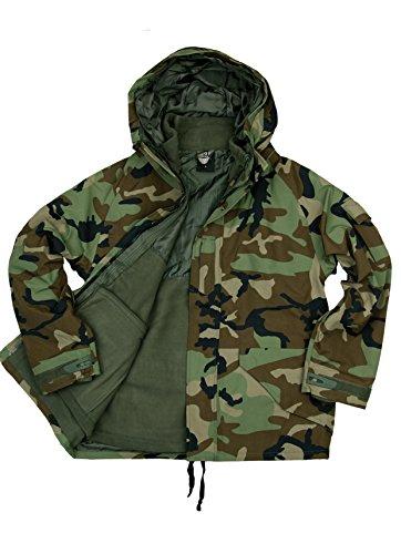 Fostex US Army Military Woodland Camo Parka Winterjacke Regenjacke Fleecejacke (M)