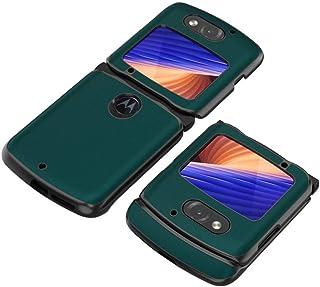 HOBETRE for Motorola Razr 5G Case Luxury Carbon Fiber Leather Hybrid Case Full Protection Shockproof Cover for Motorola Ra...