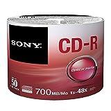 Sony 50CDQ80SP CD-R Rohlinge (1-48x Speed, 700MB, 80 Min, 50-er Stück Spindel)