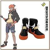 Pokemon espada y escudo Pokemon Raihan Cosplay zapatos botas Halloween carnaval Cosplay disfraz accesorio 35 tamaño masculino
