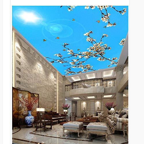 Fotobehang 3D fotobehang Blauwe bloemen Fresco Decoratie op maat gemaakte aftrekplaatjes Fresco Office Home Decoration 430 � 300 cm.