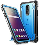 Poetic Revolution Series for LG Stylo 5 /LG Stylo 5X/ LG Stylo 5 Plus/LG Stylo 5V Case, Full-Body Rugged Dual-Layer Shockproof Protective Cover with Kickstand and Built-in-Screen Protector, Blue